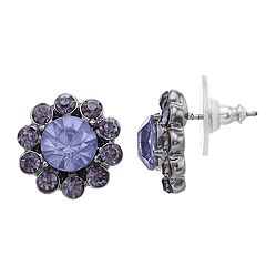 Simply Vera Vera Wang Simulated Crystal Halo Button Earrings