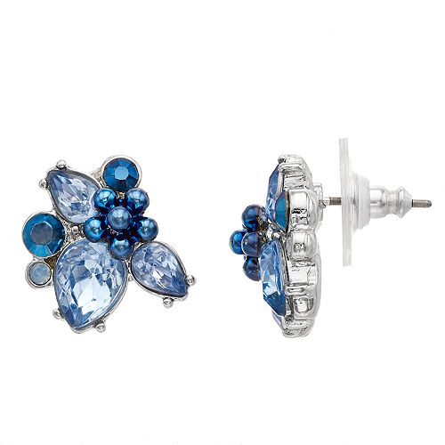 Simply Vera Vera Wang Cluster Button Earrings