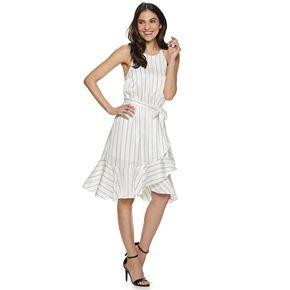 Women's Jennifer Lopez Ruffle Halter Wrap Dress