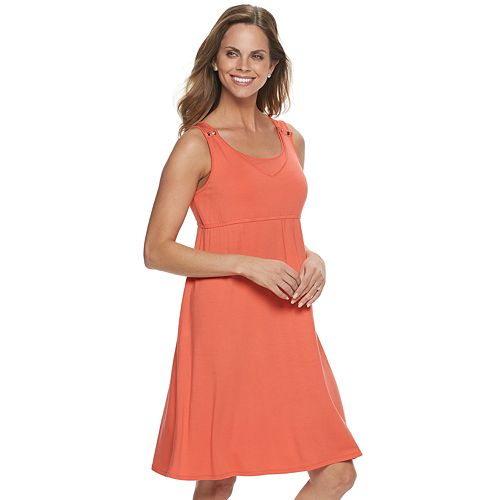 Maternity a:glow Snap-Shoulder Nursing Swing Dress