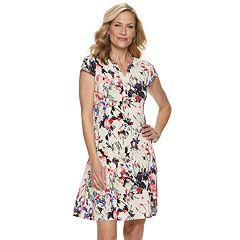 Women's Dana Buchman Cap Sleeve A-Line Dress