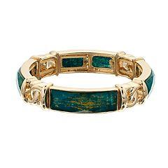 Dana Buchman Simulated Patterned Stone Cuff Bracelet