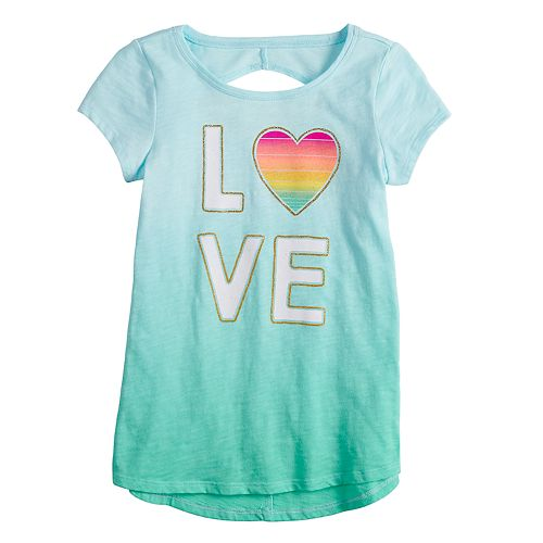 Girls 4-12 Goods for Life™ Dip-Dye Cutout Tee