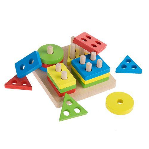 Hey! Play! Wooden Shape Sorter-Classic