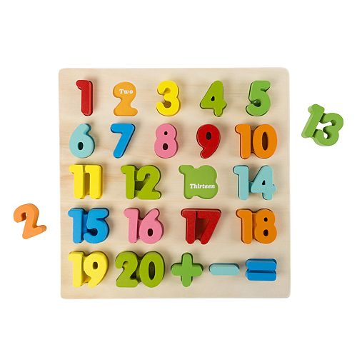 Hey! Play! Wooden Number Puzzle Board