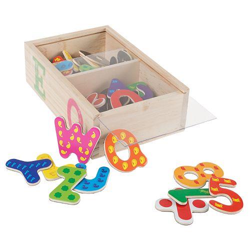 Hey! Play! 52-Piece Math and Alphabet Magnet Set