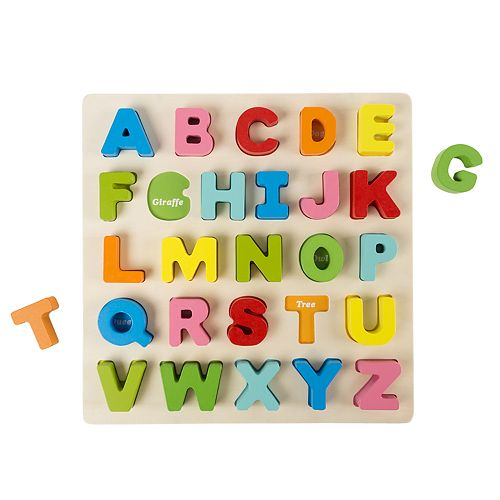 Hey! Play! Wooden Alphabet Puzzle Board