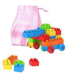 Hey! Play! Building Blocks-Classic 90 Piece Set with Storage Bag