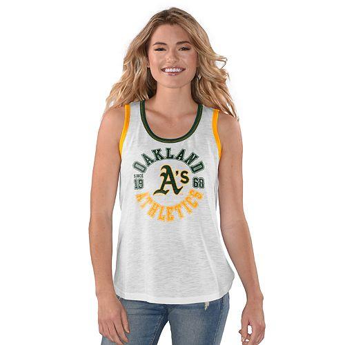 Women's Reverse Standing Oakland Athletics Slubbed Tank Top