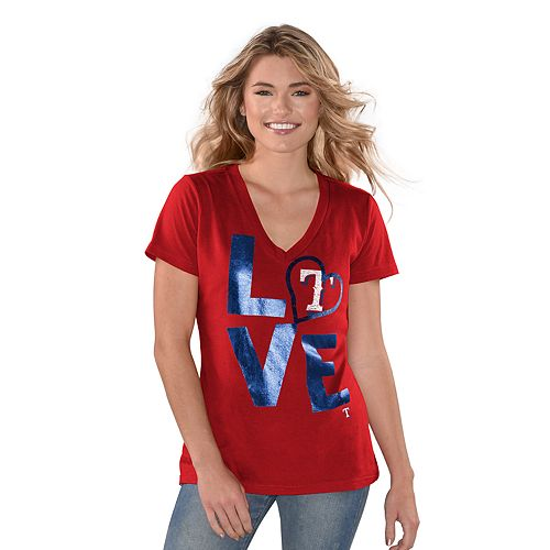 "Women's Game On Texas Rangers ""LOVE"" Graphic Tee"
