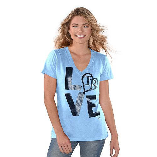 "Women's Game On Tampa Bay Rays ""LOVE"" Graphic Tee"