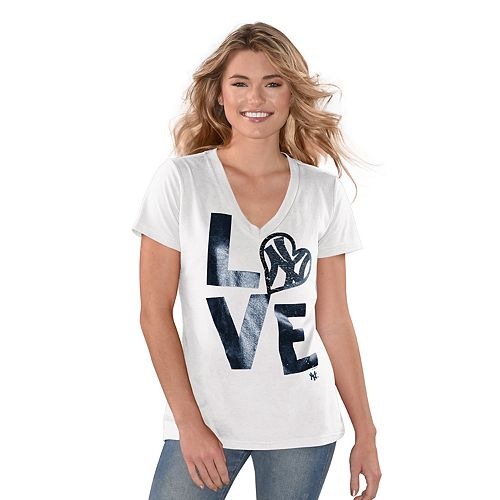 "Women's Game On New York Yankees ""LOVE"" Graphic Tee"