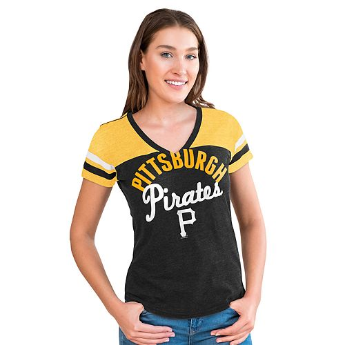 Women's Big League Pittsburgh Pirates Burnout Graphic Tee