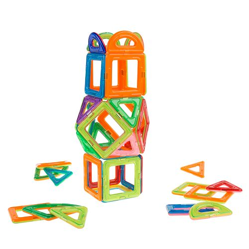 Hey! Play! Magnetic 40-Piece Building Magnet Block Toy Set