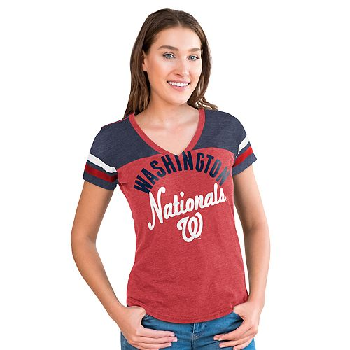 Women's Big League Washington Nationals Burnout Graphic Tee
