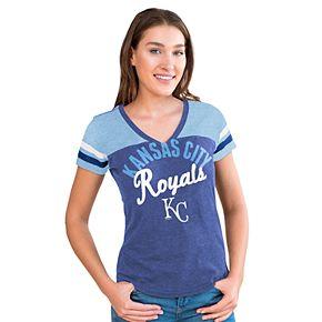 Women's Big League Kansas City Royals Burnout Graphic Tee