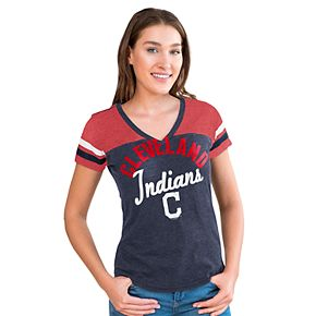 Women's Big League Cleveland Indians Burnout Graphic Tee