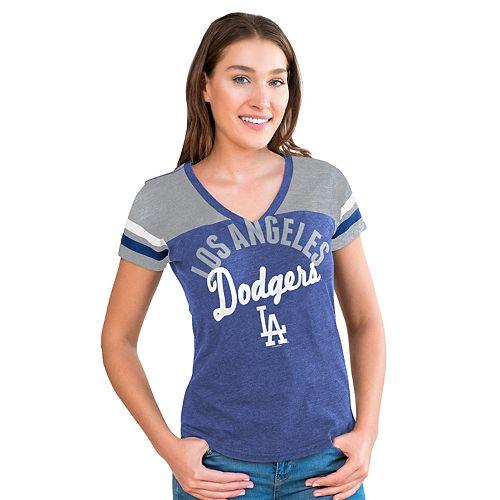 Women's Big League Los Angeles Dodgers Burnout Graphic Tee