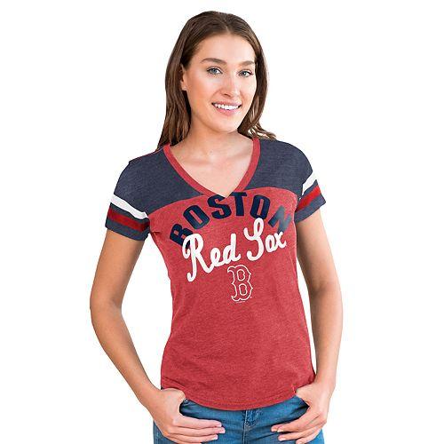 Women's Big League Boston Red Sox Burnout Graphic Tee