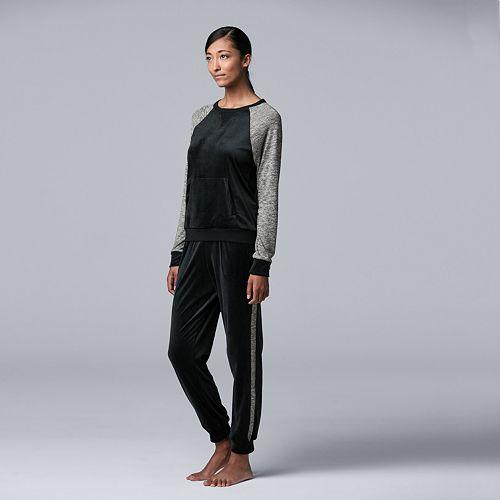 Women's Simply Vera Vera Wang Long Sleeve Jogger Set