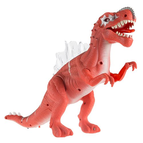 Hey! Play! Toy T-Rex Dinosaur Moving Action Figure with Lights and Sounds