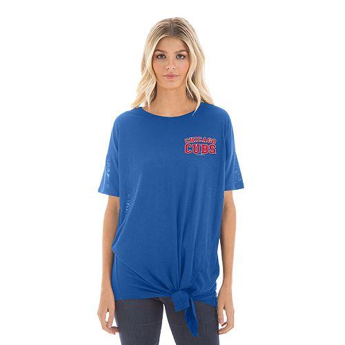 Women's New Era Chicago Cubs Side Tie Tee