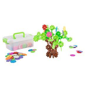 Hey! Play! Imagination Flakes- Interlocking Plastic Disc Toy Se