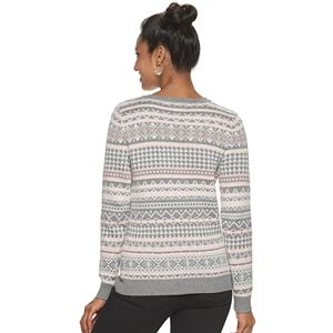 Women's Croft & Barrow® Essential Cable-Knit V-Neck Sweater