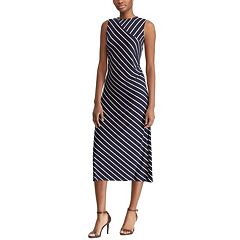 d90c9e2de50 Women s Chaps Striped Midi Dress