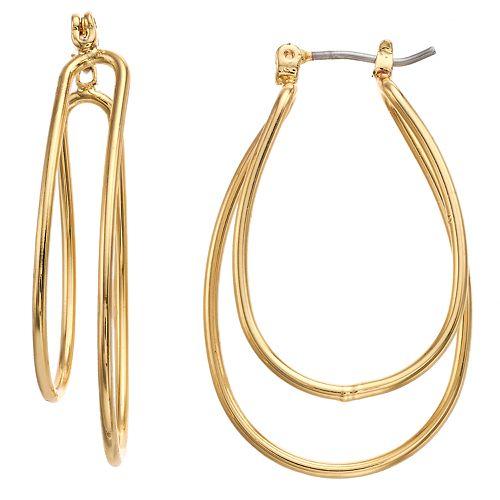 Dana Buchman Double U Hoop Earrings