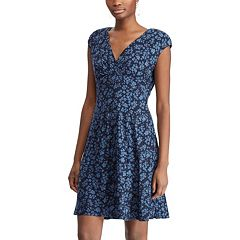 Women's Chaps Floral Surplice Dress