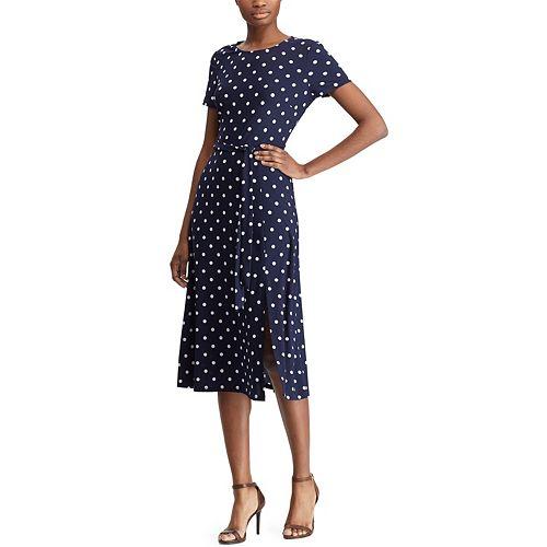 Women's Chaps Polka-Dot A-Line Dress
