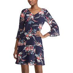 Women's Chaps Floral Drop-Waist Dress