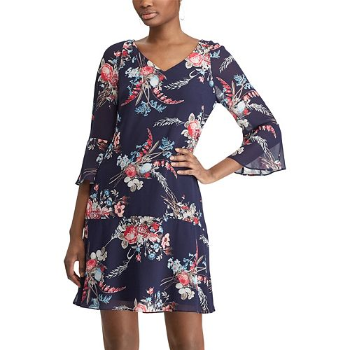 Women's Chaps Floral Drop-Waist Dress