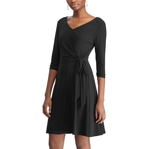 Women's Chaps Solid Fit & Flare Dress