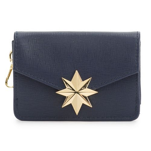 Captain Marvel Gold-Tone Icon Snap Wallet