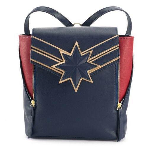Captain Marvel Logo Navy Mini Backpack