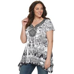 Plus Size World Unity Sharkbite Top