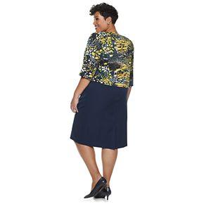 Plus Size Maya Brooke Animal Print Jacket & Dress Set