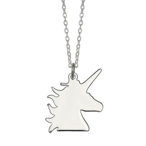 PRIMROSE Sterling Silver Unicorn Pendant Necklace