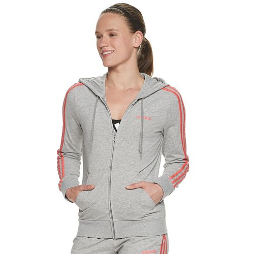 Women's adidas Essential 3 Stripe Full Zip Jacket