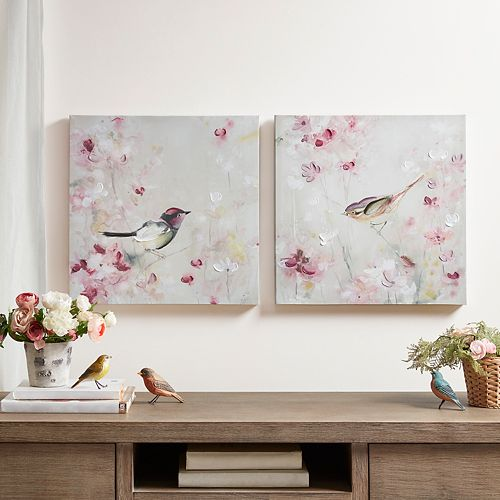 Madison Park Lovely Birds Canvas Wall Art 2-piece Set