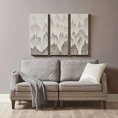 Madison Park Sterling Mist Canvas Wall Art 3-piece Set