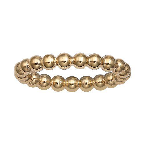 PRIMROSE 18k Gold Over Silver Beaded Ring