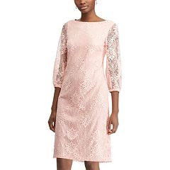 Petites Chaps Lace Sheath Dress