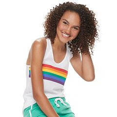 Juniors' Family Fun Rainbow Pride Graphic Tank