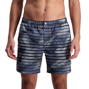 Men's Cole Palm Leaves Novelty Swim Trunks