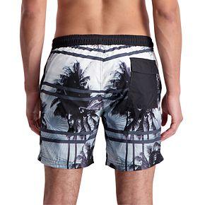 Men's Cole Palm Tree Novelty Swim Trunks
