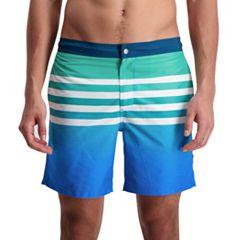 Men's Cole Horizontal Lines Novelty Swim Trunks