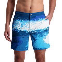 Men's Cole Ocean Wave Novelty Swim Trunks